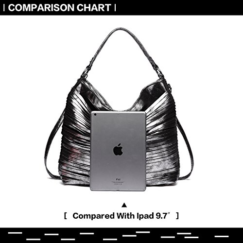 Miss Black Shine Top Metallic Casual Faux Large Quality Bag Crossbody Women Shoulder Hobo Luster Handbag Lulu 1811 Leather Handbag HUrcvqH