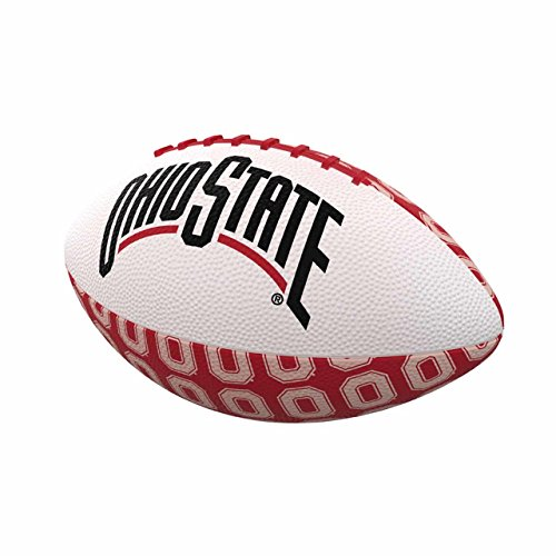 Logo Brands NCAA Ohio State Buckeyes Mini-Size Repeating Football, Multicolor, Miniature