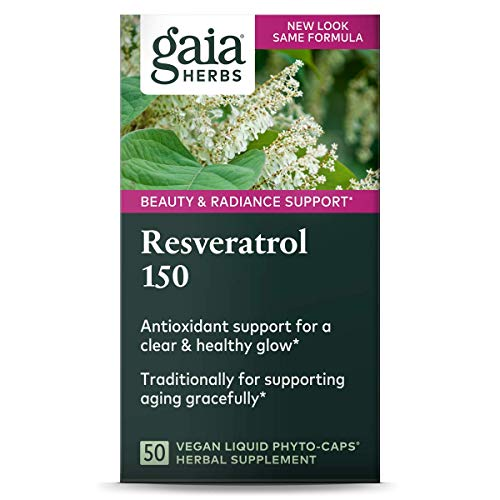 51GSmXTttyL - Gaia Herbs Resveratrol 150, Vegan Liquid Capsules, 50 Count - Antioxidant & Cardiovascular Support for Healthy Aging, Highly Concentrated Trans-Resveratrol
