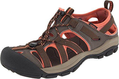 Keen Women's Owyhee Water Sandal,Slate Black/Living Coral,5 M US