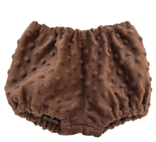 Chocolate Minky Dot Diaper ()
