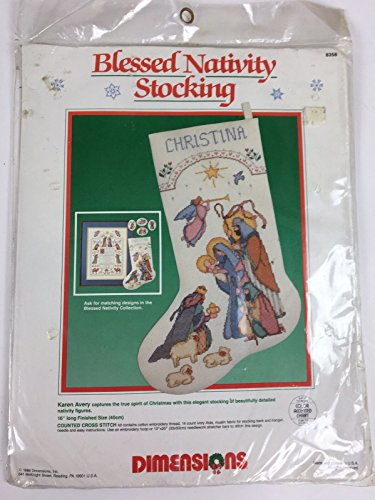 Dimensions Blessed Nativity Stocking Cross Stitch Kit 8358