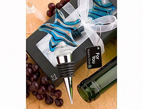 Murano Glass Collection starfish design wine bottle stopp...