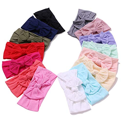 Baby Headbands Turban Knotted, Girl's Hairbands for Newborn, Toddler and Children's (15 Pack-cl23)