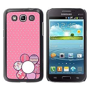 Caucho caso de Shell duro de la cubierta de accesorios de protección BY RAYDREAMMM - Samsung Galaxy Win I8550 I8552 Grand Quattro - Pattern Polka Dot Petal White