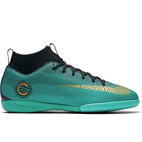 Nike Jr SprFly 6 Academy GS CR7 IC Clear Jade/Mtlc Vivid/Gold (5.5)