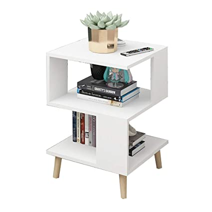 Amazon.com: Axdwfd Sofa Side Table Solid Wood Storage Table ...