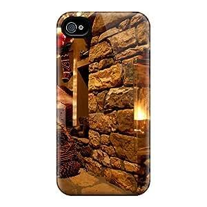 XiFu*MeiFor Iphone 4/4s Premium Tpu Case Cover Christmas Eve Protective CaseXiFu*Mei