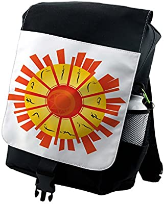 Amazon.com | Lunarable Yoga Backpack, Surya Namaskar Yoga ...