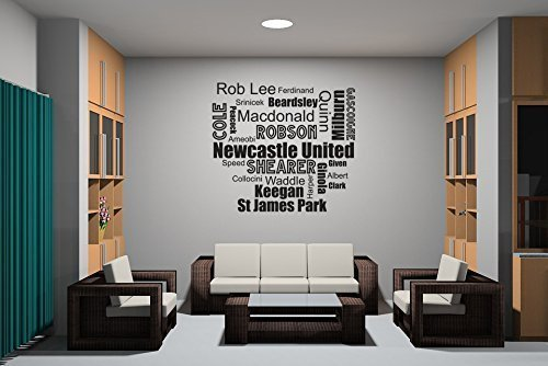 Football word clouds Newcastle Wall Sticker Vinyl Transfer Decal 650 x 600mm