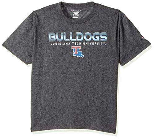 Champion NCAA Youth Boy's Granite Short Sleeve Jersey Shirt Louisiana Tech Bulldogs Medium ()