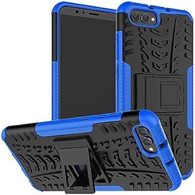 XINYUNEW Funda Moto X4, 360 Grados Protective+Pantalla de Vidrio Templado Caso Carcasa Case Cover Skin móviles telefonía Carcasas Fundas para Moto X4-Azul: Amazon.es: Hogar