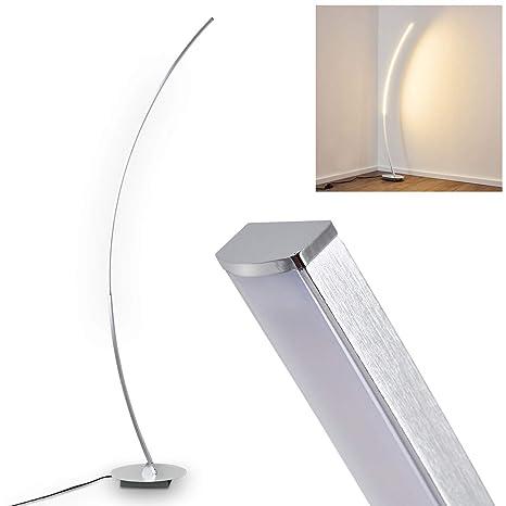 Lámpara de pie Antares metal cromado - salón - dormitorio - oficina - con interruptor de encendido/apagado