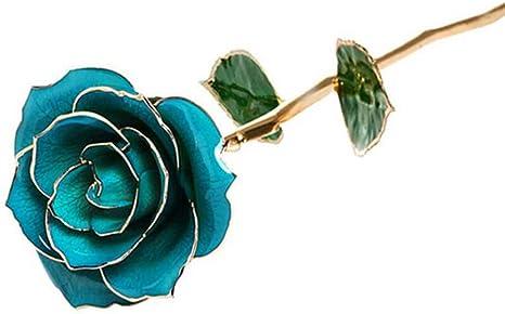 Rose Plaque Or 24 Carats Rose Fraiche Cadeau De Fete Des Meres