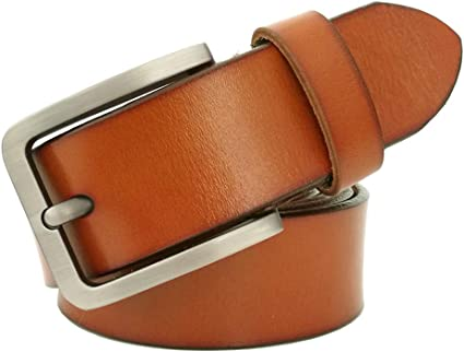 """Mens Belt for Jeans Big and Tall Size 28/""""-64/"""" 100/% Real Leather Belts 3 Colors"""