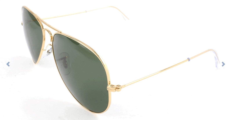 Ray-Ban - Gafas de sol Aviador RB3025 Aviator metal, Gold
