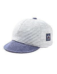Evelin LEE Childrens Slugger Baseball Cap Striped UV Protection Sun Hat