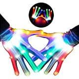 Boys Gifts, DMbaby Gifts for Girls 4-8 Years Old, Gifts for Kids LED Flashing Skeleton Gloves G05