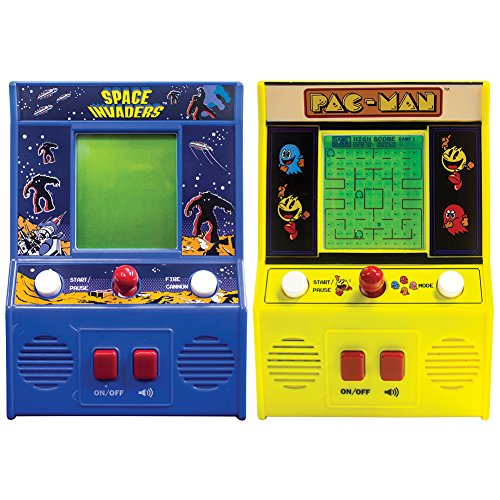 (Set) Space Invaders And Pac-Man Mini Portable Retro Joystick Arcade Games (Mini Arcade Game Machine compare prices)