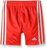 adidas Little Boys' Active Mesh Short, Vivid Red, 7