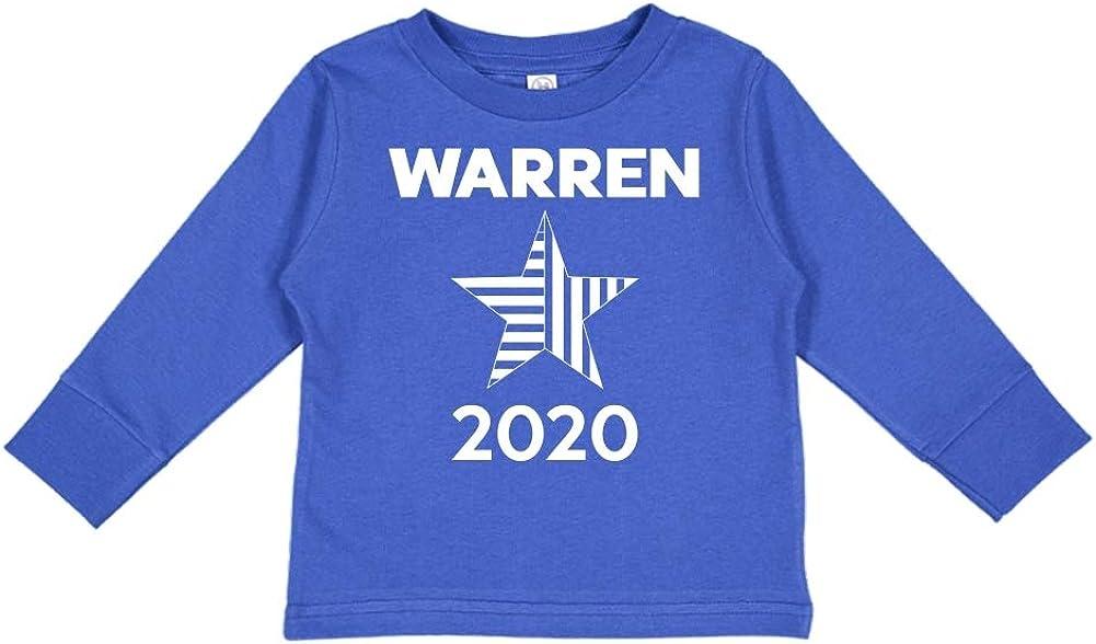 Presidential Election 2020 Toddler//Kids Long Sleeve T-Shirt Star Mashed Clothing Warren 2020