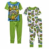 5t ninja turtle pajamas - Teenage Mutant Ninja Turtles Little Boy 4 PC Short Sleeve Tight Fit Pajama Set 5T