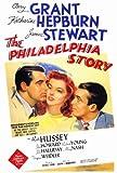 The Philadelphia Story Poster 27x40 Katharine Hepburn Cary Grant James Stewart Movie Poster Print, 27x40