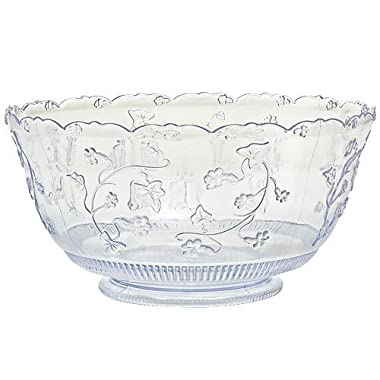 Party Dimensions 1 Count Plastic Punch Bowl, 12 Quart, Clear