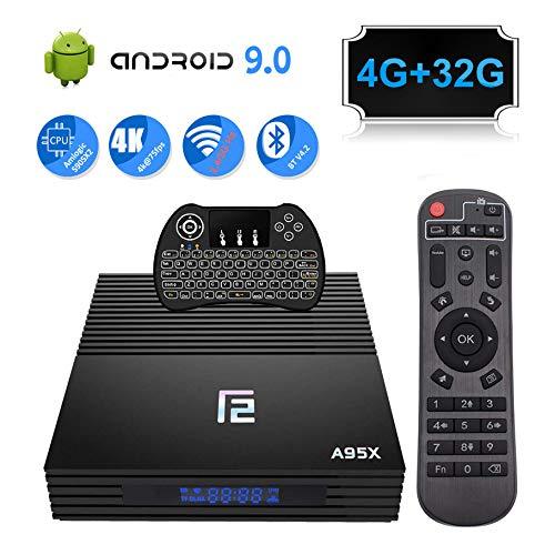 Android TV Box, QPLOVE Q8 Android 10.0 TV Box【4GB 64GB】 RK3318 Quad Cord 64Bits CPU Support 2.4G/5G Dual WiFi BT 4.0 USB…