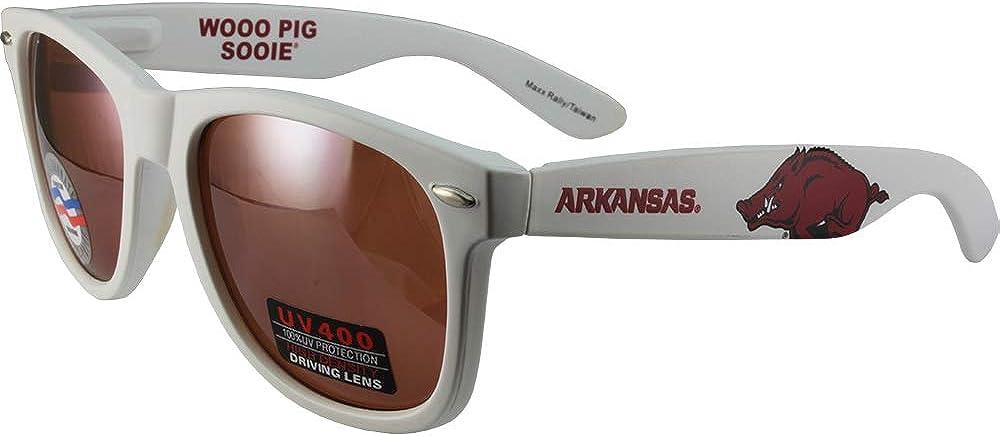 Maxx Rally Sport Fashion Arkansas Razorbacks Sunglasses White with Amber Lens
