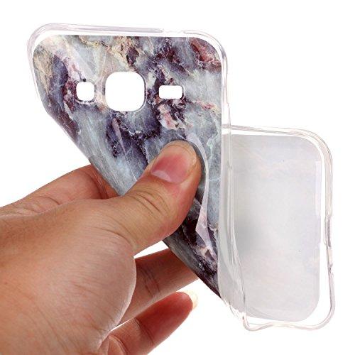 JIALUN-Personality teléfono shell Caso Suave de Mármol Piedra IMD Híbrido Brillante TPU Suave de Silicona Cubierta de la Caja Protectora de Shell Suave para Samsung Galaxy J310 J3 2016 Seguridad y Mod 5