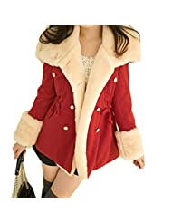 DaySeventh Winter Fashion Warm Double-Breasted Wool Blend Jacket Women Coat