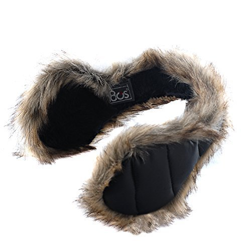 180s Women's Down With Fur Behind The Head Ear Warmer ()