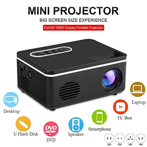 Dacyflower Mini Projector Portable,Full HD 1080P Display Movie Projection Device Compatible with TV Stick PS4 HDMI TF AV USB for Home Theater Office Presentation from Dacyflower