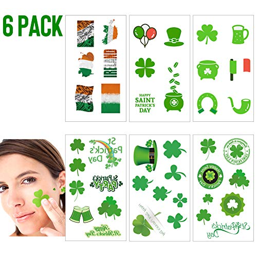 Shamrock Clover Tattoo st Patricks Day Stickers Irish Temporary Tattoos St Patricks Day Accessories Shamrock Patterned Tattoos Party Favors Decorations