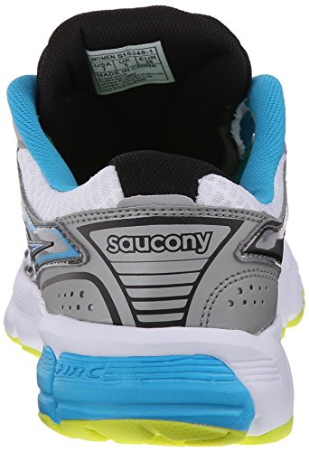 White Citron Synthetic Grid Blue Saucony Footwear Women's Mystic WI0On11Hq