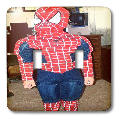 3dRose lsp_52591_2 A Halloween Kid Dressed Like Spiderman in Red and Blue Double Toggle Switch