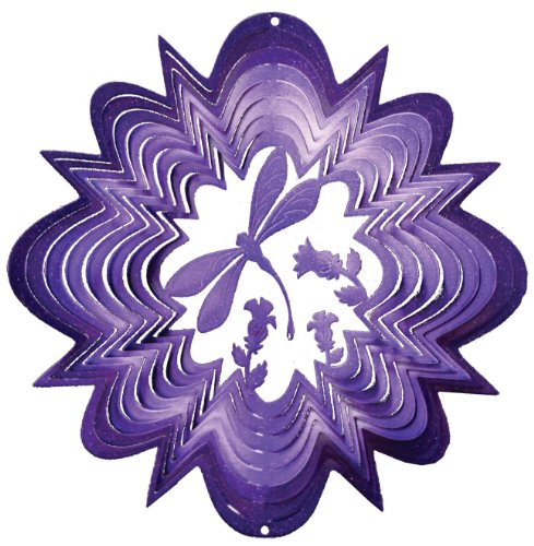 "Iron Stop 12"" Purple Dragonfly Wind Spinner"