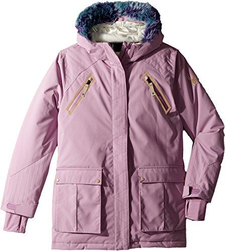 Spyder Kids Girl's Bella Faux Fur Jacket (Big Kids) Grape 8 by Spyder