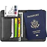XGUO Passport Holder Case Wallet,Genuine Leather RFID Blocking Passport Wallet Cover Case With magnetic closure (Black)