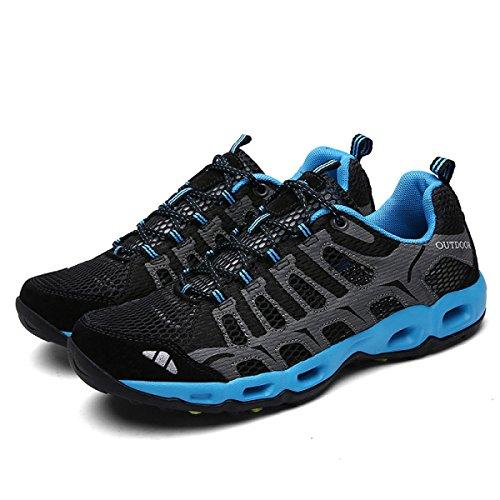 Zapatillas Zapatos black Aire Respirable De Cordones Con Pareja LXXAUnisex Secado Al Acoplamiento Atletismo Libre Verano Rápido De qwIggaO