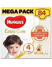 Huggies Extra Care luiers, maat 4 (7-18 kg), verpakking met 84 luiers