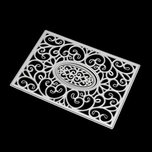 Flower Heart Metal Cutting Dies Stencils DIY Scrapbooking Album Paper Card Craft by TOPUNDER O - Scroll Die Cut Paper