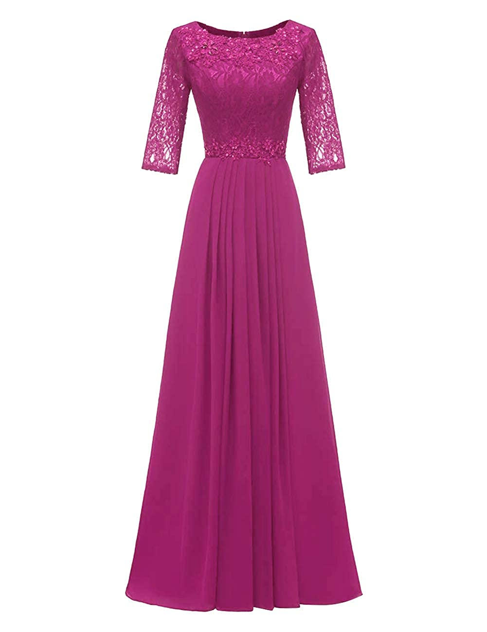Fuchsia H.S.D Evening Dresses Long Prom Dresses Lace Bridesmaid Dresses Evening Formal Gowns