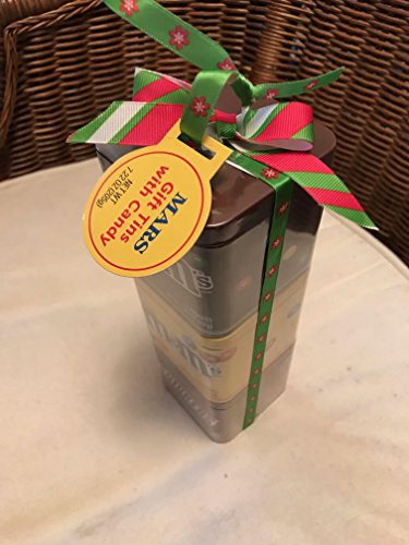 M&M's Mars Holiday 3 Pack Gift Tin Snickers and M&M's - Holiday Gift Tin