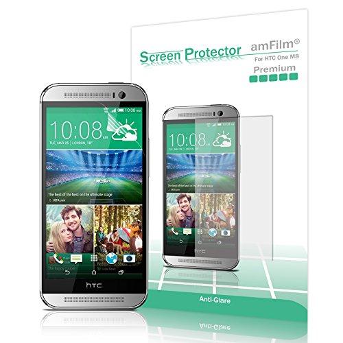 amFilm HTC One M8 Screen Protector 2014  Premium Anti-Glare/