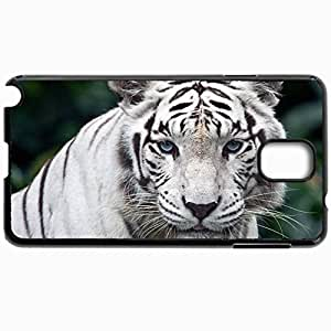 Customized Cellphone Case Back Cover For Samsung Galaxy Note 3, Protective Hardshell Case Personalized Beasts White Tiger 19449 Black