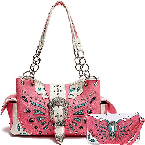 Cowgirl Trendy Western Concealed Carry Butterfly Belt Cow...