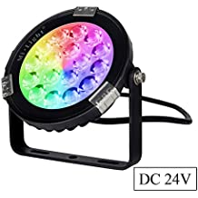 Mi.Light 9W RGB+CCT Outdoor LED Garden Spotlight DC 24V 16 Million Colors Changing And Color Temperature Adjustable Works With Mi.Light 8-Zone Remote And Smartphone Control Via Mi.Light WiFi iBox