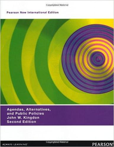Agendas, Alternatives, and Public Policies
